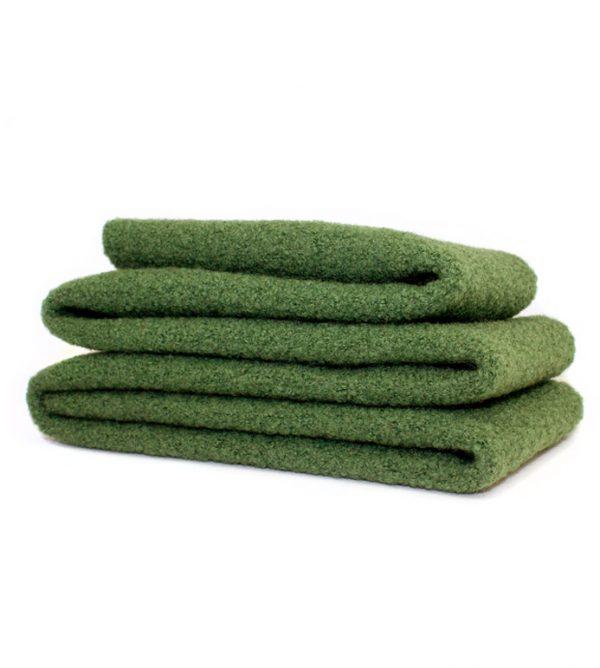 Walkstoff Schurwolle Tannengrün